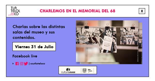 <p>Charlemos en el Memorial del 68</p>