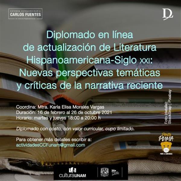 Diplomado de Actualización de Literatura Hispanoamericana - Siglo XXI