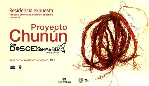 Teatro UNAM  Residencia expuesta-Proyecto Chunún