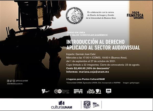Curso a distancia  Introducción al Derecho aplicado al sector audiovisual