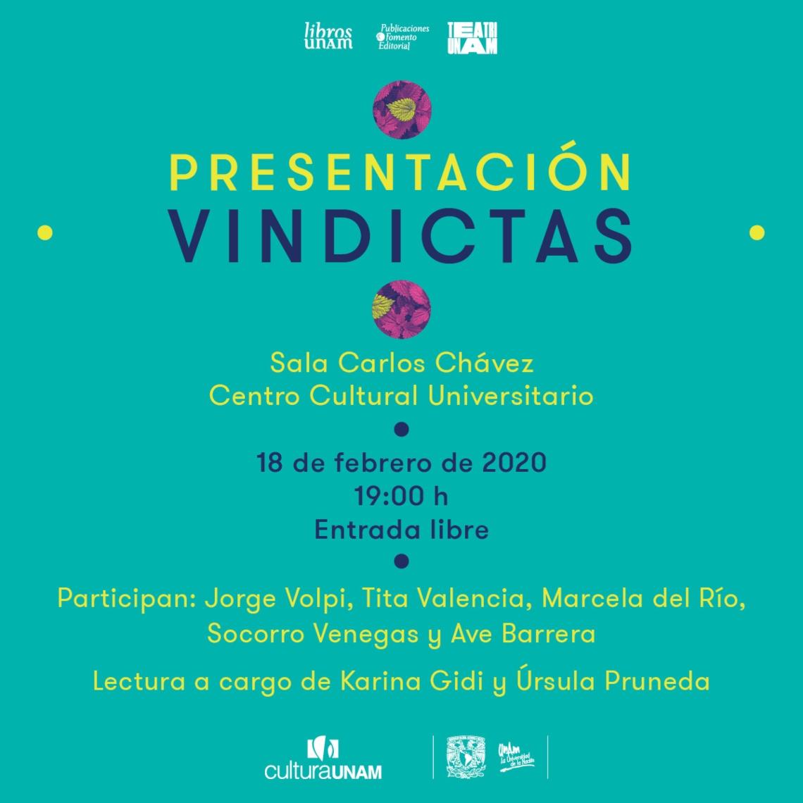 <p>Presentación Colección Vindictas</p>